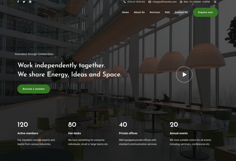 GS Office Suites: Co-working Space